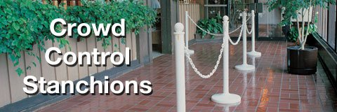 Keep it all under control with professional stanchions in a selection of colors and styles.