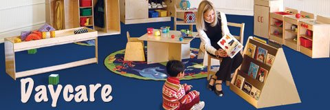 Welcome little ones into the classroom with fun and safe daycare furniture.