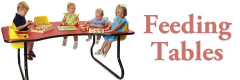 Toddler feeding tables make daycare mealtimes smoother and easier.