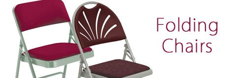 Folding chairs offer great event seating and space-saving storage.