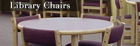 Library chairs give students or patrons a nice place to sit and read.