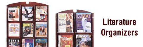 How can I keep magazines organized in the waiting room?