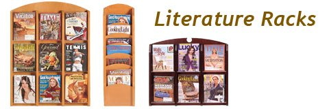 A few well-placed magazine racks are sure to be appreciated by your students or patrons.