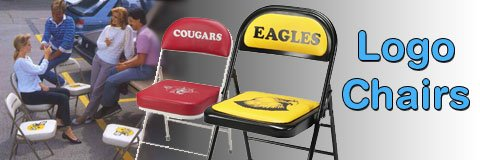 Sit back, relax and show your school spirit with classy logo chairs.