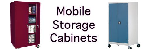 Secure what you need wherever you need it with sturdy mobile storage cabinets.