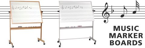 What kind of whiteboard has music lines?
