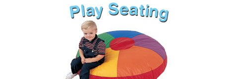 Colorful play seating makes your preschool or daycare cozy and inviting.