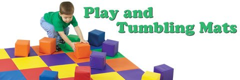 With tumbling mats around, little ones can climb, roll and explore safely.