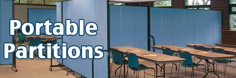 Portable partitions create a brand new space in a matter of seconds.