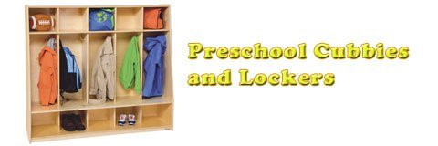 Keep your classroom organized with preschool cubbies and lockers in a range of sizes.