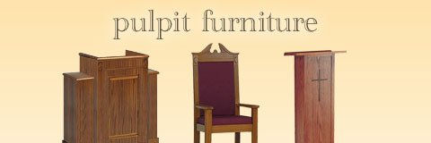 Reinvigorate your congregation by adding elegant pulpit furniture to your sanctuary.