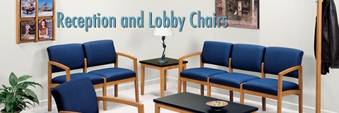 Waiting room chairs in a selection of colors and styles to coordinate with your lobby or reception area.