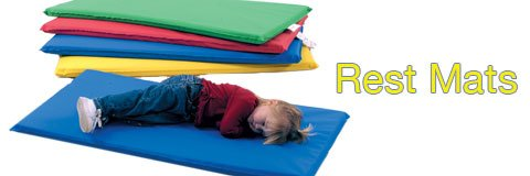Keep little ones cozy and relaxed at school with comfy rest mats.