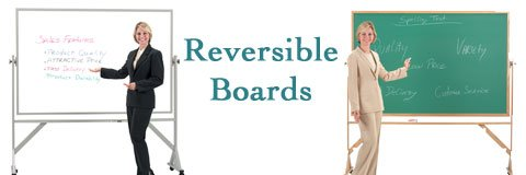 Get all the space you need for notes and examples with a reversible whiteboard.