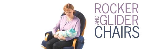 With a glider rocking chair to calm fussy babies, a caregiver's day is much more pleasant.