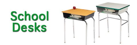 What types of school desks are there?