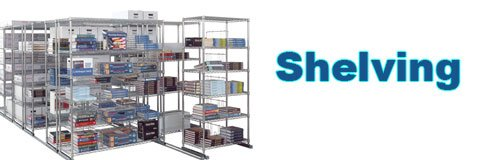 Organizing your storage spaces is much easier when you have sturdy metal shelving.