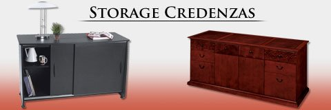 Keep your office organized in elegant professional style with a storage credenza.
