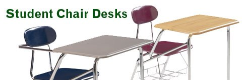 Keep your classroom neat and ready for learning with sturdy student chair desks from Hertz Furniture.