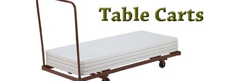 Save time, strain and stress with sturdy table carts from Hertz Furniture.