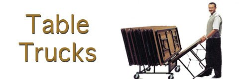 Set up for special events and occasions in a flash with sturdy table carts.