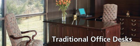 Enjoy the high-class style of traditional office desks at prices you can afford.
