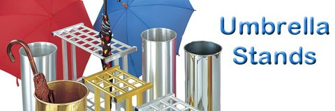 When it's wet and rainy outside, don't forget to set up your umbrella stand inside.