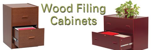 Classy wooden file cabinets can be coordinated with other office furniture.