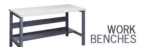 Sturdy workbenches are perfect for carpentry and other heavy-duty projects.