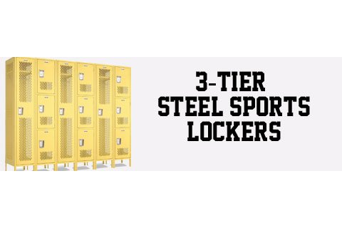Penco Invincible II 3-Tier Steel Sports Lockers