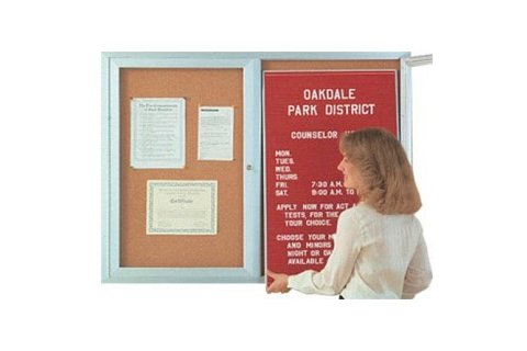 Aluminum Indoor Directories -Two Doors