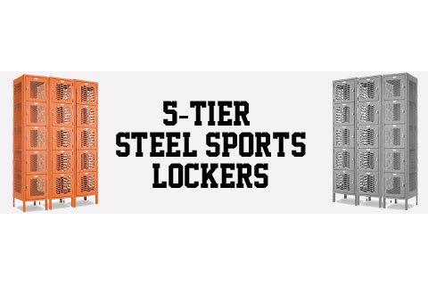 Penco Invincible II 5-Tier Steel Sports Lockers