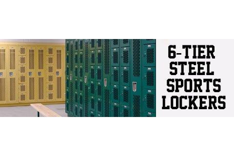Penco Invincible II 6-Tier Steel Sports Lockers