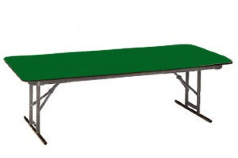 Educational Color Top Folding Tables-Rigidity Brace by Allied