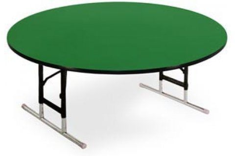 Educational Color Top Round Folding Tables-Adjustable by Allied