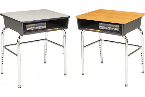 1100 Adjustable Open Front School Desks