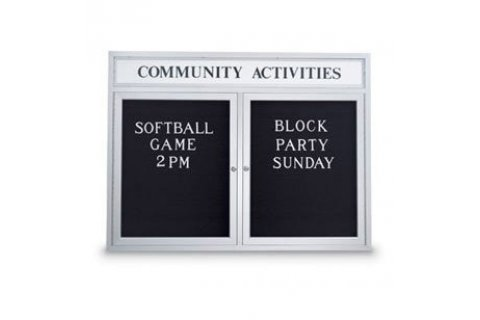 Weather-resistant Enclosed Letter Boards with Header