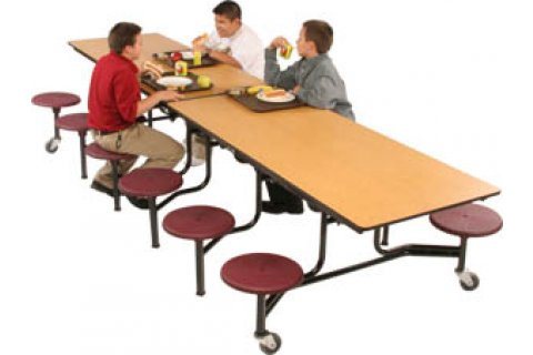 Mobile Cafeteria Stool Tables