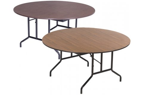 Round Folding Tables with Wishbone Legs