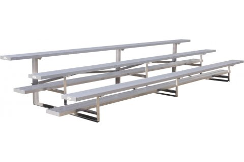 Low-Rise Aluminum Bleachers by GT Grandstands