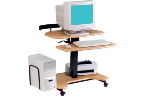 Hi-Lo Pneumatic Mobile Computer Workstations by Balt