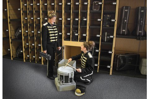 Band-Stor Instrument Lockers with Grille Doors by Marco Group