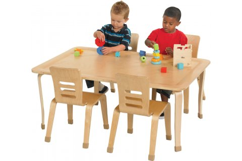 ECR4Kids Bentwood Preschool Tables and Chairs