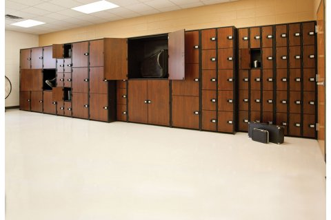 Band-Stor Instrument Lockers with Solid Doors by Marco Group