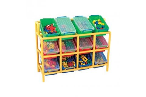 Multi-Bin Plastic Storage
