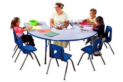 Educational Edge Horseshoe Tables