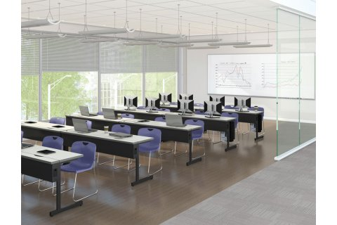 New Medley Flip Top Computer Tables