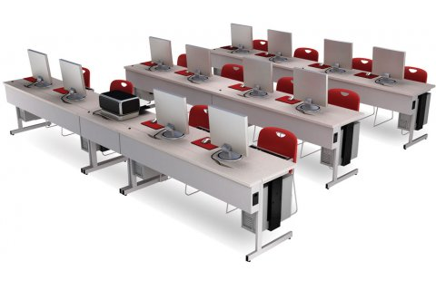 Flip Top Computer Workstations