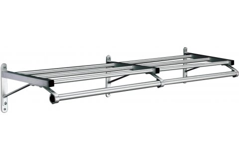 Value-Line Wall-Mounted Coat Racks with Shelf by Glaro