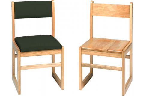 Classic Sled-Base Library Chairs